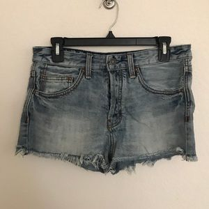 Free People High Rise Jean Shorts
